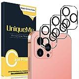 UniqueMe [3 Pezzi] Pellicola Fotocamera per iPhone 12 Pro Max 6,7 Pellicola, [Bubble-Free] Pellicola Protettiva per iPhone 12 Pro Max 6.7 Vetro Temperato Fotocamera [Facileinstallare][Durezza 9H].