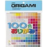 Aitoh M100C Papel de Origami, 5.875 x 5.875 Pulgadas, 100 Colores,...