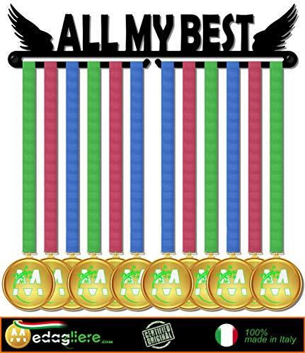 Medagliere Il Primo Originale Medal Display, Porta medaglie, Muro, più di 20 medaglie Made in Italy (all My Best Design)