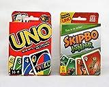 Mattel Uno Card Game Bundled with Skipbo Junior Card Game