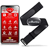 Heart Rate Monitor Chest Strap for Garmin, Apple, Android, ANT+ and Most Bluetooth 4.0 Enabled Fitness Devices