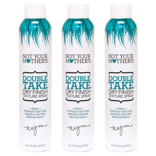 Not Your Mothers Double Take Dry Finish Texture Spray 6 Ounce (177ml) (3 Pack)