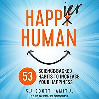 Happier Human audiobook cover art