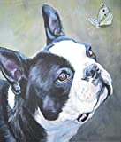 Color Boston Terrier Cute pet Dog DIY 5D Diamond Painting Kits for Adults Full Drill Diamond Art Crystal Rhinestone Embroidery Pictures Cross Stitch Arts Craft for Home Wall Decor Kids Room Gift