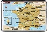 LFC M070 CARTE DE FRANCE MAGNET FRIGO MAGNET FRANCE VOYAGE REFRIGERATEUR AIMANT