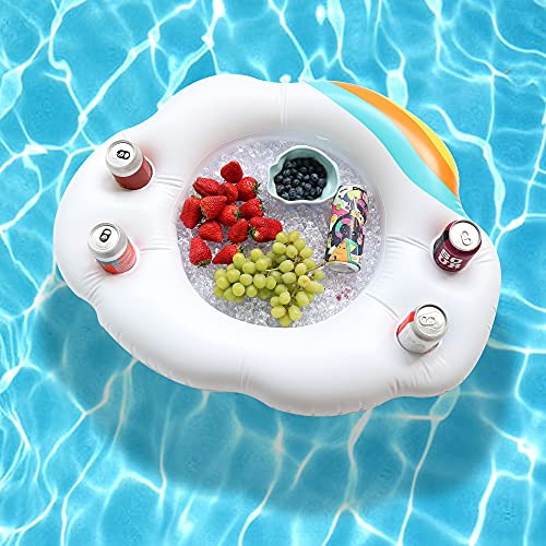 Kurala Inflatable Floating Drink Holder Pool, Floating Serving Bar, Salad Pool Float Cooler for Adults, Cold Buffet Server for Pool Party Beach