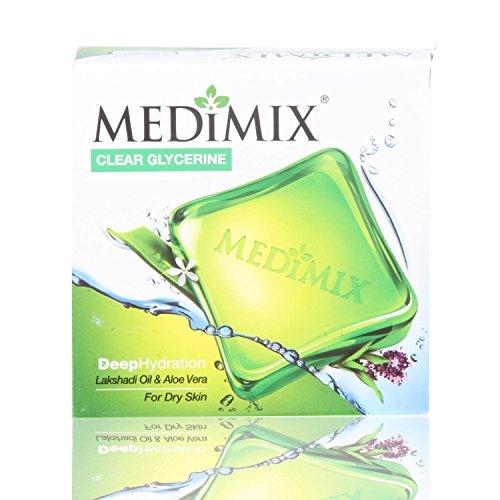 Medimix Lakshadi Oil and Aloe Vera Soap for Dry Skin, 100g (Buy 3 Get 1 Free)