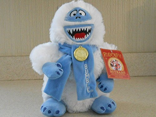 Rudolph the Red Nosed Reindeer 11' Plush BUMBLE the Snow Monster Doll With 50 Years Patch and Medallion