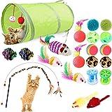 1. 【Matériel sûr】 : Tous les jouets sont faits de matériaux de haute qualité, tels que l'herbe à chat, le lin, le coton, les matériaux élastiques, le plastique et les plumes.Ils sont sans BPA, non toxiques, sans odeur, ne nuisent pas à votre chat, an...