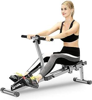 Roddmaskiner för hemmabruk luftmotstånd aerobisk roddmaskin fitness träning avancerat körbältessystem med 12-växlad juster...