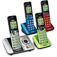 VTech CS6529-4B 4-Handset DECT 6.0 Cordless Phone with Answering System and Caller ID
