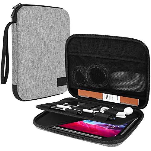 TiMOVO Funda de Tableta para Negocios de 9-11' para 2020 iPad Air 4 10.9,iPad Pro 11, New iPad 10.2, Samsung Galaxy Tab A7 10.4 2020, S6 Lite 2020, Apto Apple Smart Keyboard, Gris