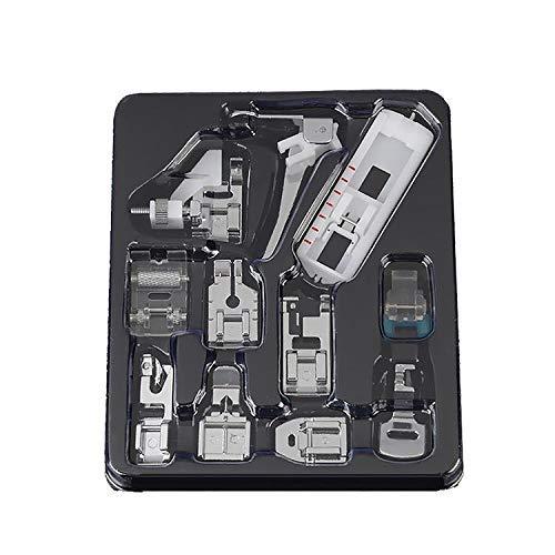 AOSNTEK Juego de 11 piezas para máquina de coser, prensatelas y adaptadores para máquina de coser, accesorios para máquina de bordar, piezas con caja de almacenamiento