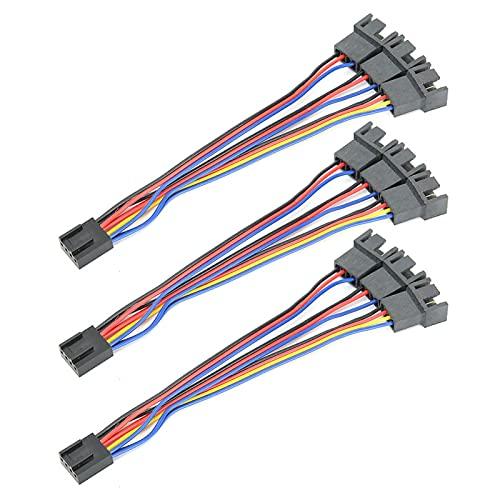 Tomanbery Cable Adaptador de Ventilador de Aislamiento de PVC Cable Adaptador de Placa Base Cable Adaptador de Rendimiento Estable Cable convertidor Plug and Play para computadoras para PC