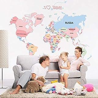 World Map Pattern wall sticker home decor home decoration wall sticker