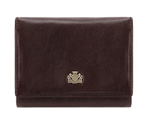 WITTCHEN Elegante Geldbörse Damen/Geldbeutel Portemonnaie aus Leder 12x9.5cm 10-1-070-4