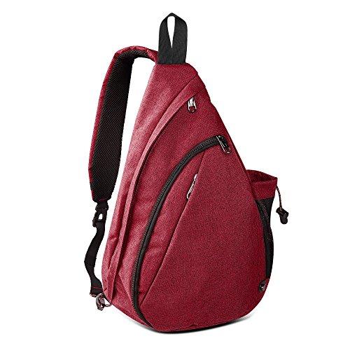 OutdoorMaster Sling Bag - Crossbody Shoulder Chest Urben/Outdoor/Travel Backpack for Women & Men (Garnet Red)