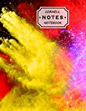 Cornell Notes Notebook: Cute Cornell Note Paper. Trendy Freeze Motion of Color Powder Exploding...