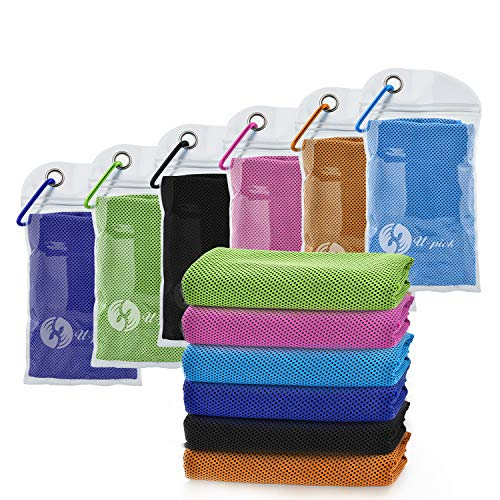 """[6 Packs] U-pick [4 Packs] Cooling Towel (40""""x 12""""),Ice Towel,Microfiber Towel,Soft Breathable Chilly Towel for Yoga,Sport,Gym,Workout,Camping,Fitness, Running,Workout & More Activities"""