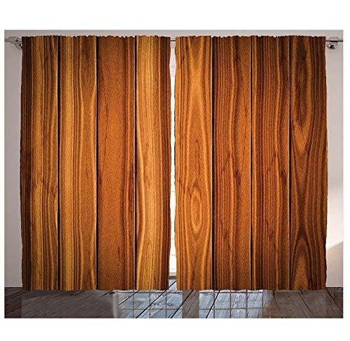 Muxiand Rustieke gordijnen, verticale houten planken, afbeelding, cottage, leven in landschap, thema woonkamer, slaapkamer, raamdecoratie, paneel