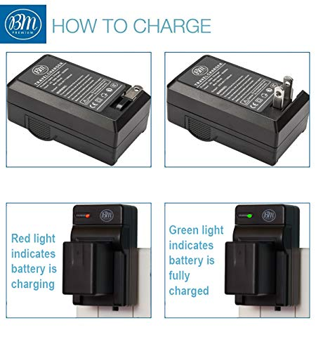 BM Premium 2 VW-VBT380 Batteries and Charger for Panasonic HC-V800K, HC-VX1K, HC-WXF1K, HCV510, HCV520, HC-V550, HCV710, HC-V720, HC-V750, HC-V770, HC-VX870, HC-VX981, HCW580, HC-W850, HC-WXF991