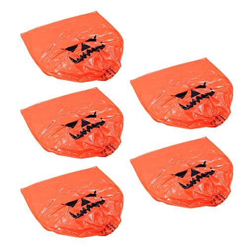 YARNOW Calabaza de Halloween Césped de Plástico Otoño Hojas de Otoño Decoración de Bolsas Al Aire Libre Acción de Gracias Otoño Bolsa de Basura Decoración Bolsas de Linterna Naranja 47 X