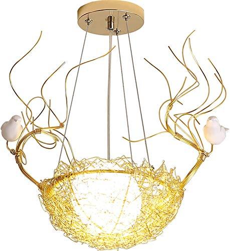 NZDY Candelabro de iluminación de techo interior, 40 * 40Cm Entrada de pasillo de una sola cabeza simple Luz de nido de pájaro Luz de bar de restaurante Luz de candelabro de balcón Luz colgante