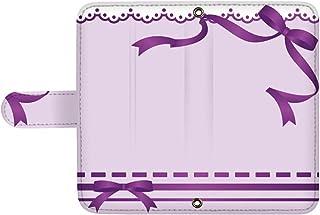 スマQ nova lite 3+ POT-LX2J 国内生産 ミラー スマホケース 手帳型 HUAWEI ファーウェイ ノバライトスリープラス 【B.パープル】 リボンとレース ami_vd-0103_sp