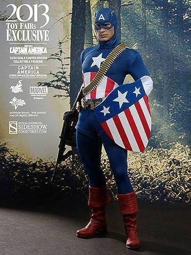 marca famosa Hot Toys - Figura Capitán América América América (HTMMS205)  de moda