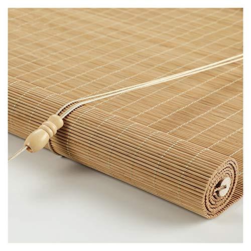 CHAXIA Bambú Persiana Ventana Enrollable, Bambú Persianas Porche Dividir Pared De Fondo Decoración Sala De Te Colgar Cortinas, 2 Colores Varios Tamaños (Color : B, Size : 100x240cm)