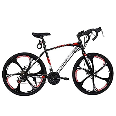 Road Bike Aluminum 700C Wheels 21 Speed Dual Disc Brakes Full Suspension 26 inch Road Bicycles with Simanos Aluminum Frame for Men Women