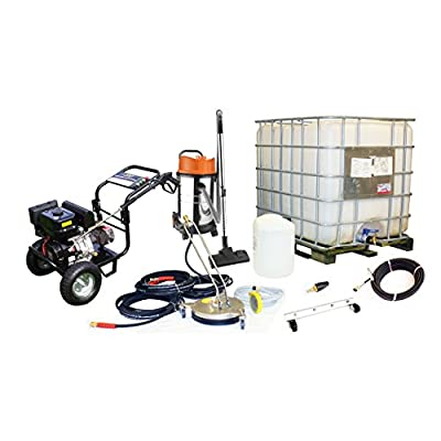 Kiam Business Start-up Pack Driveway Block Paving: KM3700PR 14hp Petrol Pressure Washer Gearbox Model, KV30B Wet & Dry Vacuum Cleaner, VT62-300S Rotary Cleaner, Turbo Nozzle, 1000L IBC from KIAM POWER PRODUCTS