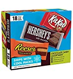 Hershey's Milk Chocolate & KIT KAT & REESE'S Cups, Gift Box of Assorted Full Size Bars 18 pieces, 27.3 oz from Hershey's