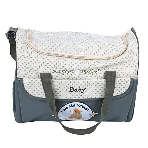 Bolsa de maternidad de alta capacidad a prueba de óxido para madre e hijo con cordón para cochecito(green)