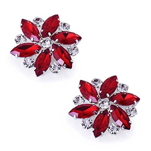 Duosheng & Elegant AJ Vestido de cristal Sombrero Decoraciones para zapatos Clips...