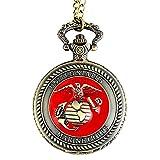 Pocket Watch US Marine Corps Pocket Watch Retro Men's Women's Jewelry Gift Pendant Necklace Clock
