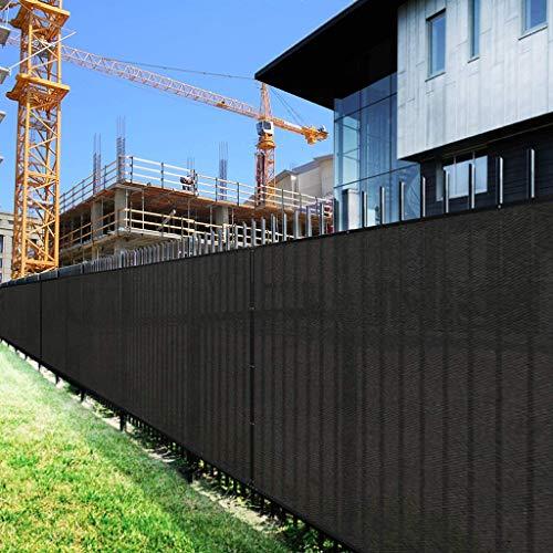 JHFSW Schwarz Privacy Screen Zaungitter Windschutzscheibe, Gartenzaun Protection Balkon Zaun-Netz for Terrasse, Garten, Veranda, Pool (Color : 2M x 8M)