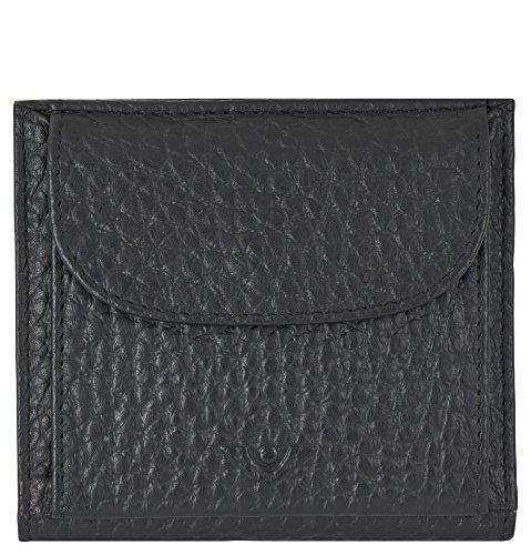 Voi Bestseller Börse 70575 Portemonnaie Leder Damen klein: Farbe: Schwarz