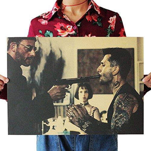 ALTcompluser Retro Motiv Film Poster Promi Wanddekoration Vintage Wandbild Kleinformat Plakat für Wandgestaltung(Léon)