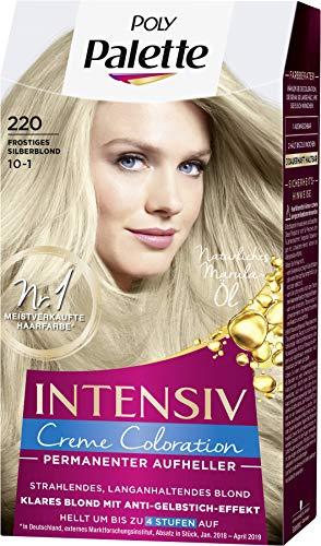 SCHWARZKOPF POLY PALETTE Intensiv Creme Coloration 220/10-1 Frostiges Silberblond, 3er Pack (3 x 115 ml)