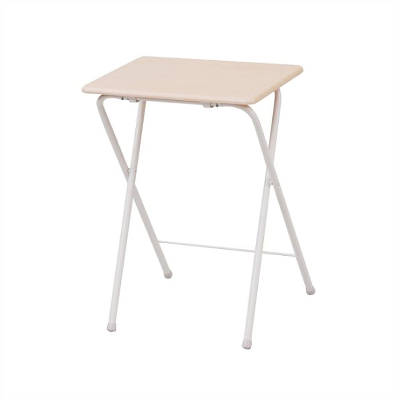 寺院一晩成熟した山善(YAMAZEN) テーブル ミニ 折りたたみ式 サイドテーブル 幅50×奥行48×高さ70cm ハイタイプ ナチュラルメイプル/アイボリー YST-5040H(NM/IV)