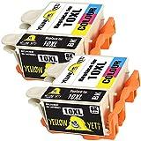 Yellow Yeti Reemplazo para Kodak 10 10XL 10B 10C Cartuchos de Tinta compatibles con Kodak ESP 3 5 7 9 3250 5100 5210 5250 5300 5500 6100 6150 7250 9250 Hero 6.1 7.1 9.1 (2 Negro + 2 Color)