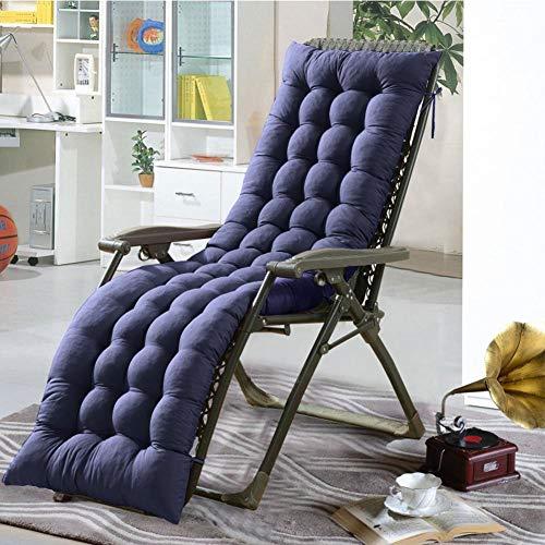 Cojín para silla de salón o tumbona reclinable, cojín con diseño de colchón para tumbonas en el patio, jardín, exteriores, galería, de Soddyenergy., azul