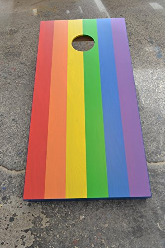 Custom Stained Pride Rainbow Flag Cornhole Boards Set with Bags