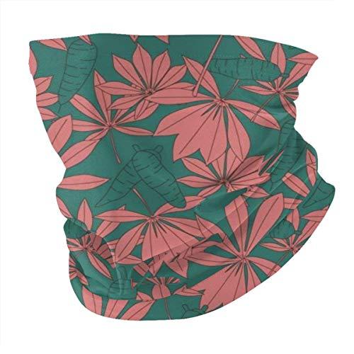 Nonebrand Unisex Kopfbedeckung Gesicht Magic Schal Maske Stirnband Bandana Halstuch Gamaschen für Outdoor Sport Cassava Pflanze Blätter Vector