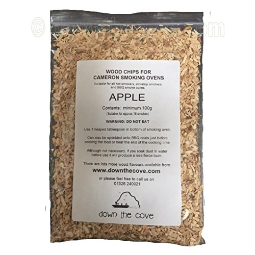 100g Apple Wood Chips / Wood Dust for Hot Smokers / Smoking Ovens / BBQ