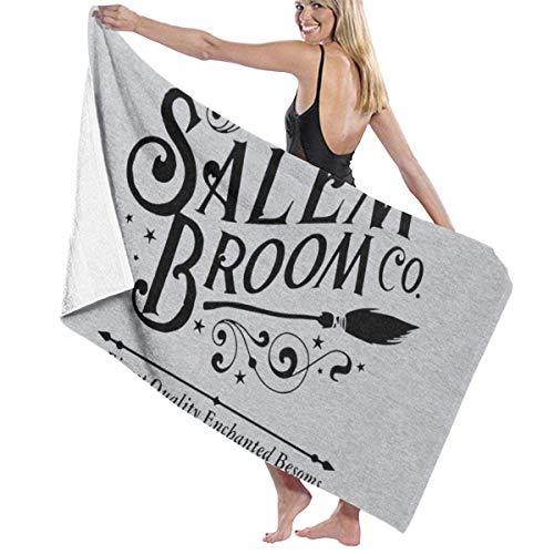 ENZOOIHUI Salem Broom Co EST 1692 Broomstick Emblem Toalla De Baño Toalla De Playa 80X130 Cm