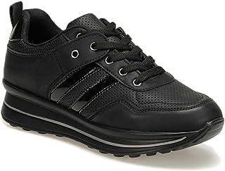 DMS-3-19W Siyah Kadın Sneaker Ayakkabı