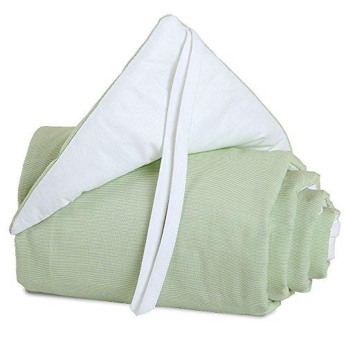 Babybay Babynest pour Midi/Mini, Vert/blanc
