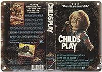 Child's Play Chucky 金属板ブリキ看板警告サイン注意サイン表示パネル情報サイン金属安全サイン